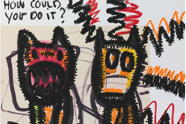 Detail of one of works by Bjarne Melgaard that were held by customs (Photo: courtesy of Bjarne Melgaard and Rod Bianco Gallery)