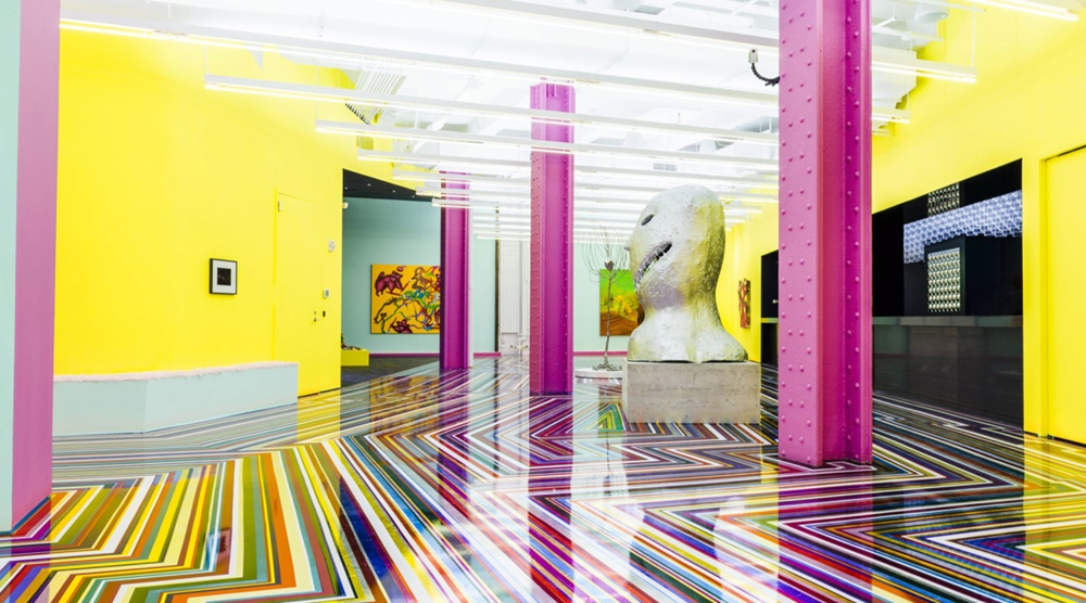 "Installation view of ""Spaced Out: Migration to the Interior"" at Red Bull Studios in 2014. Courtesy Red Bull Arts New York."