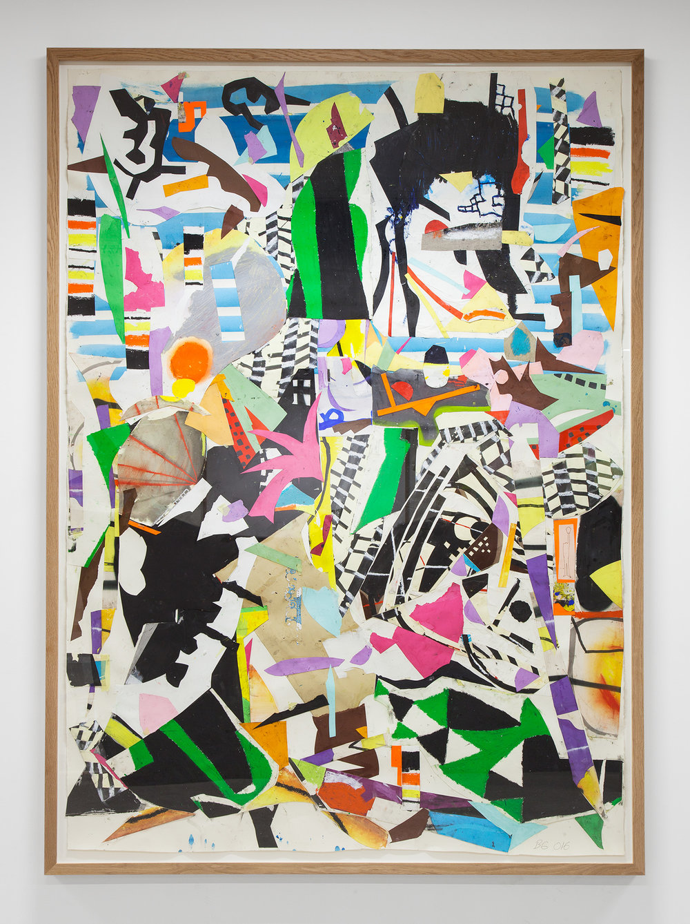 Rush, 2016 collage on paper 230 x 163 cm