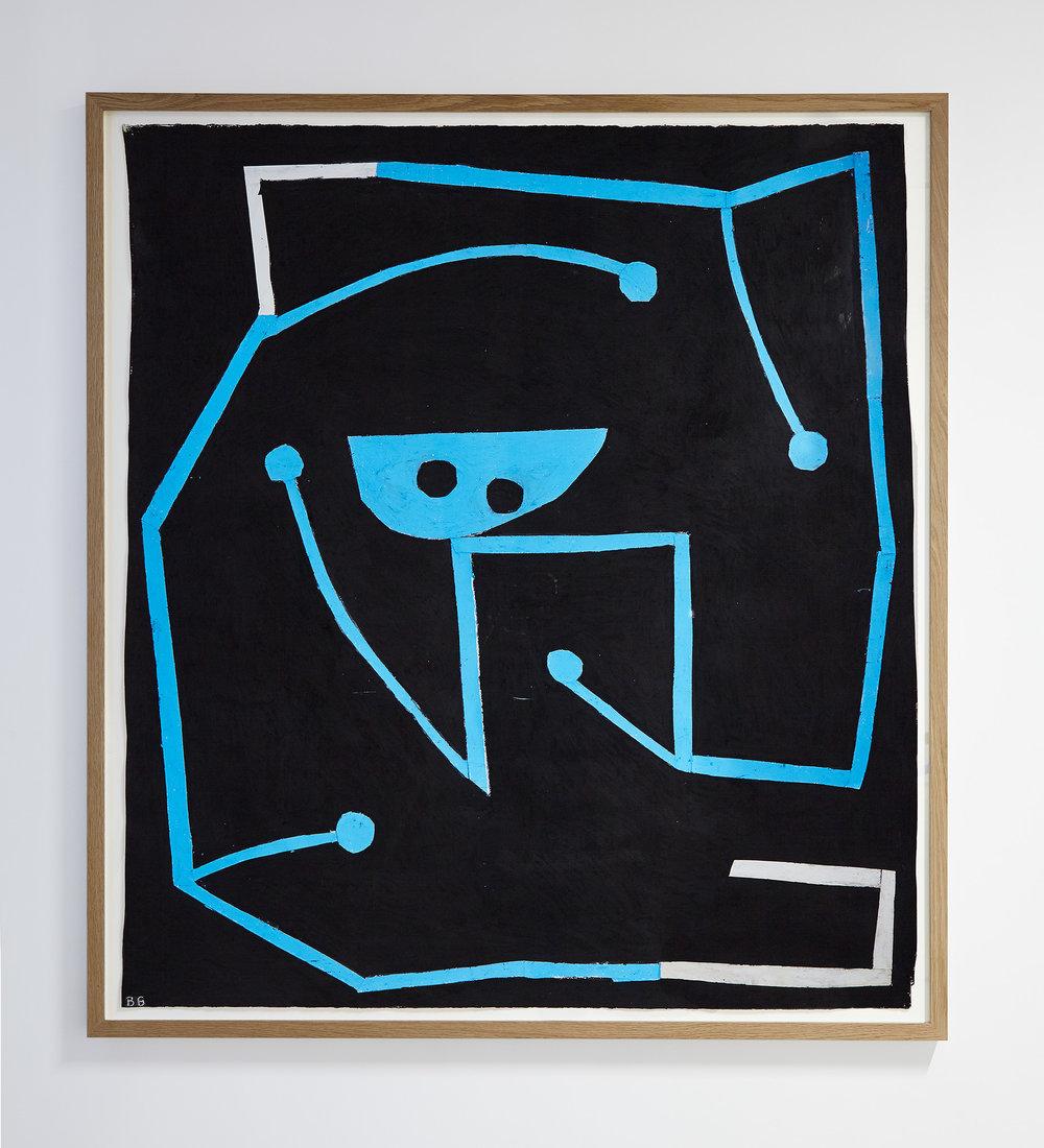 Symbolblikk,  2016 Acryllic on paper 162 x 147 cm
