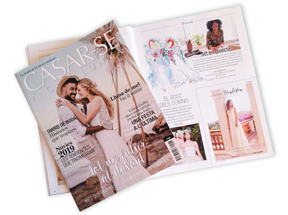 Featured - Delighted to be featured in this summers' issue of Casar-se a Catalunya.