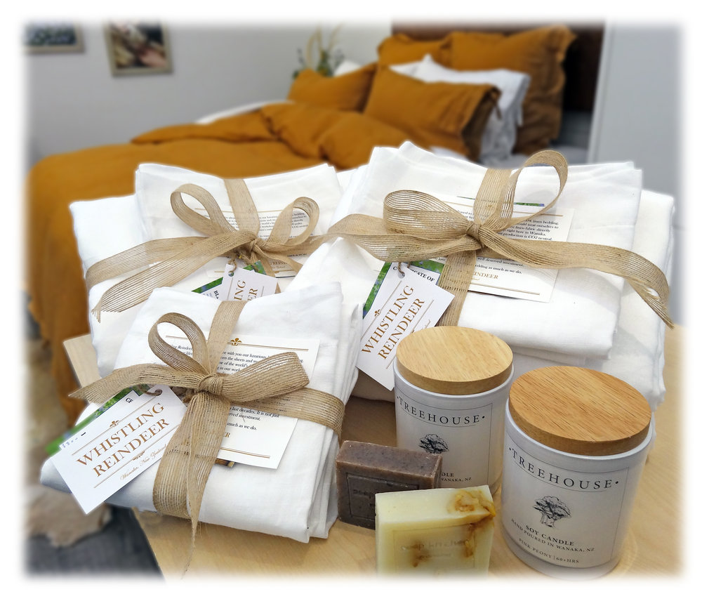 Linen Bedding Wedding Gift Package