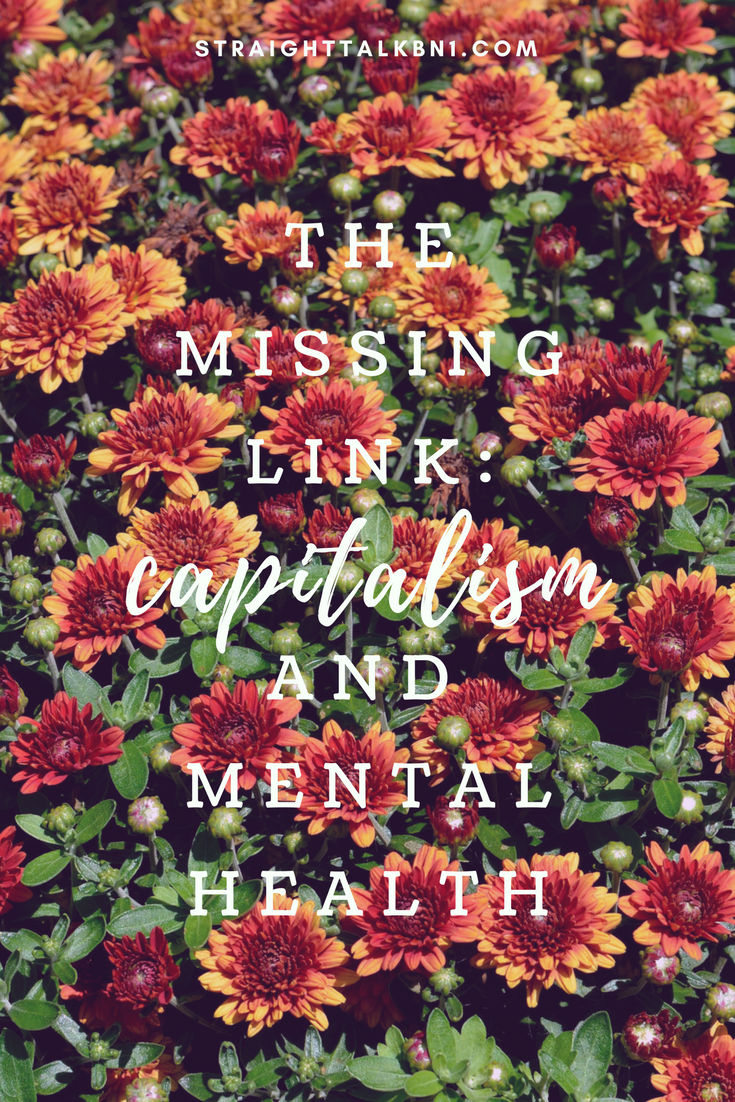 This article is about how capitalism has a negative effect on mental health. Instead of finding their true purpose, people often try to fill the void with mass consumerism.