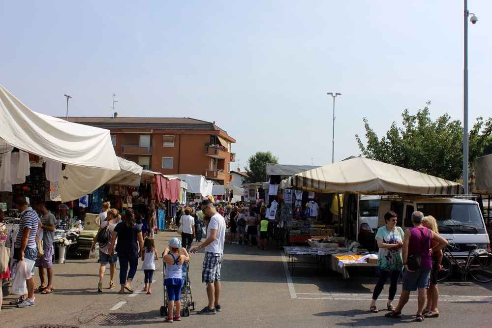 Market day in Casorate Primo