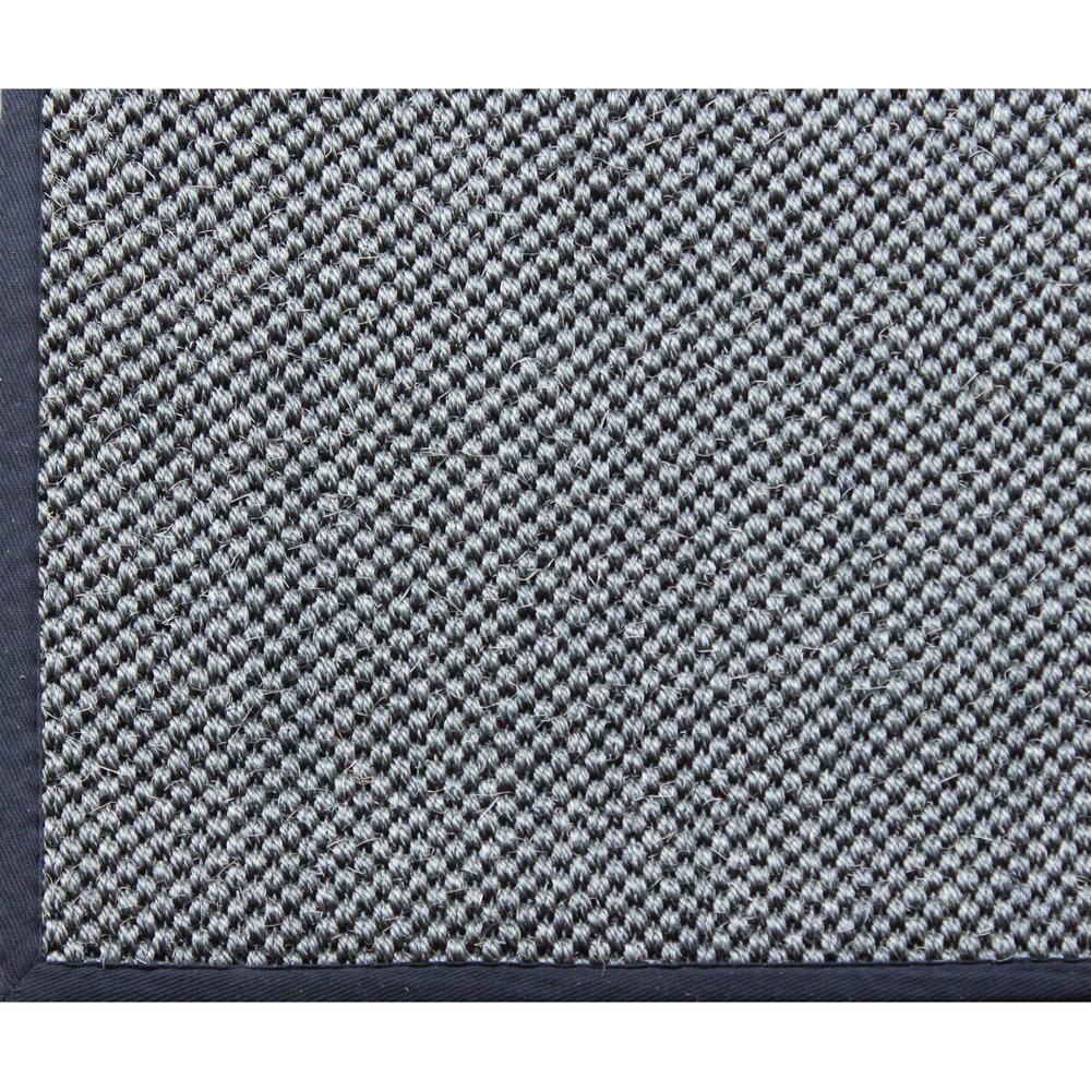 A1HC Indoor Hand Crafted Natural Sisal Rug With Cotton Border Design Tiger  Eye Kari Color Grey