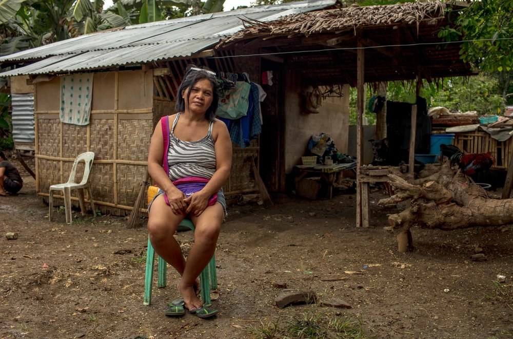 My name is Prima and I am 47 years old. I collect and sell bamboo sprouts on the street, but it is illegal to sell on the sidewalk, so if the police come then I have to hide.  My Husband is an on call carpenter with no permanent work so I have to work hard. If I don't sell enough then we don't have food to eat. If we run out of bamboo then we don't have money for food. I really want a permanent business like a restaurant, so I can support my children and send them to college. At the moment we barely have enough money for food. We are so pitiful, I wish we could move out of the squatters area. I love my children so much and I work so hard for them. I will never forget the time my youngest child got sick with meningitis and he was between life and death. I thank God that the Energia project came and gave us financial assistance, it saved my child's life. I wouldn't be able to cope if I lost a child because I couldn't afford treatment.