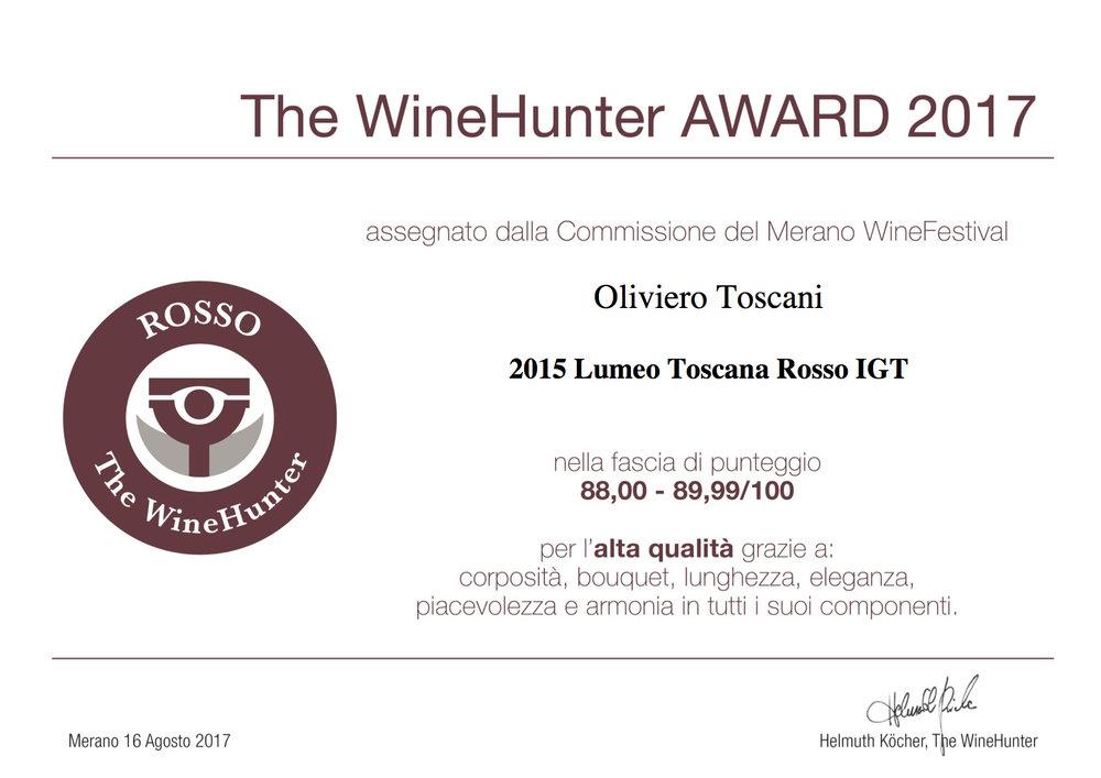 The WineHunter Award  Rosso-1303170817.jpg