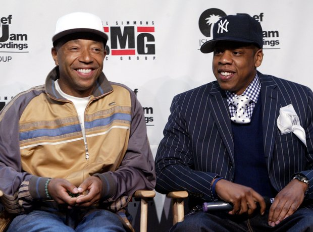 Def Jam Founder Russell Simmons and Jay-Z