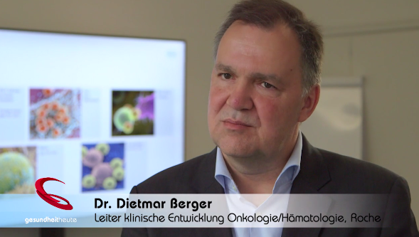 TV program gesundheitheute on the possibilities of immunotherapy for cancer.