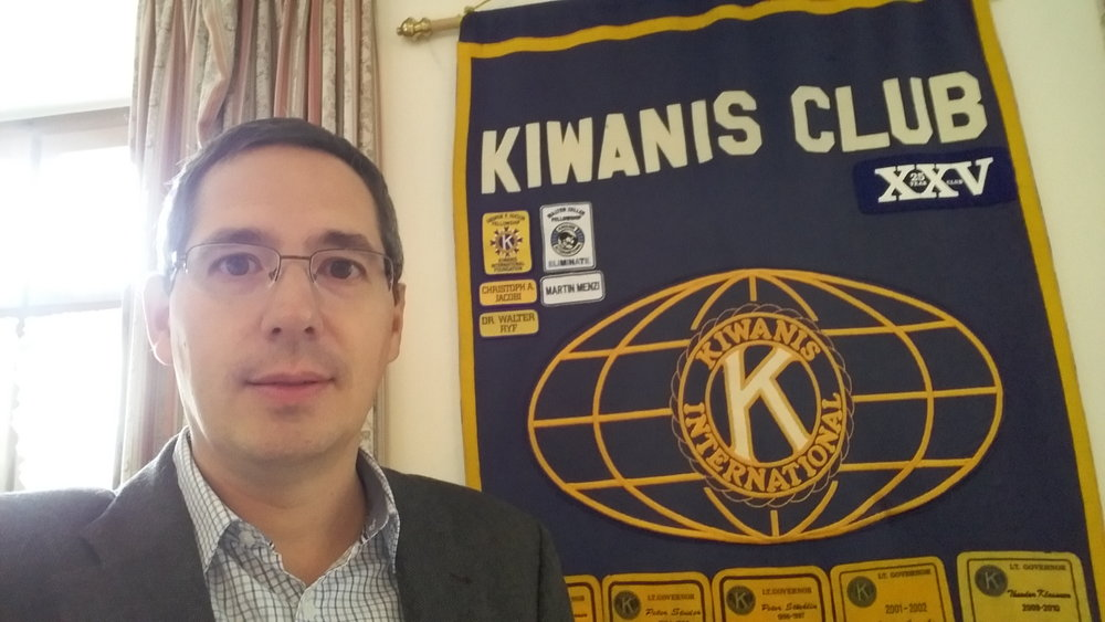 Philipp Kämpf, Director External Affairs AbbVie AG, at Kiwanis Club Limmattal-Zürich.