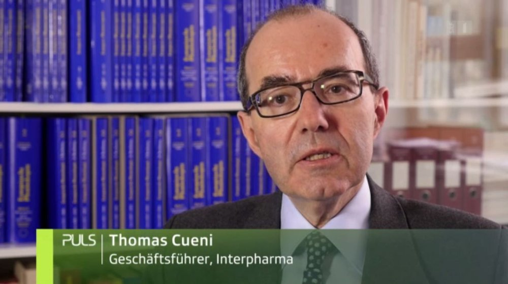 Interpharma General Secretary Thomas Cueni informs viewers about diabetes medicines in the TV programme PULS broadcast on 25.4.2016.