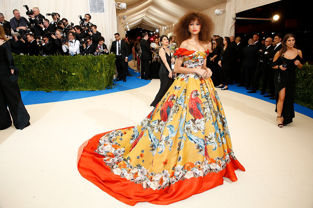 Zendaya in Dolce and Gabbana  - Met Gala 2017 Image from NewYorkTimes.com