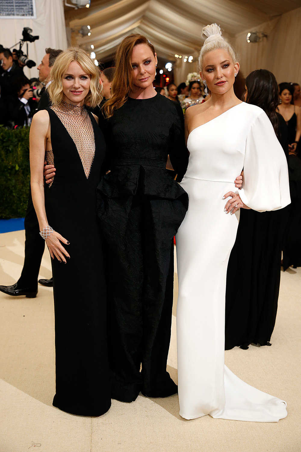Kate Hudson, Naomi Watts with Stella McCartney - Met Gala 2017Image from NewYorTimes.com