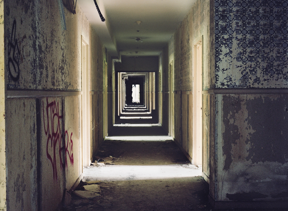 Hallway, Grossinger's Catskill Resort and Hotel, Liberty, NY, Chromogenic Print