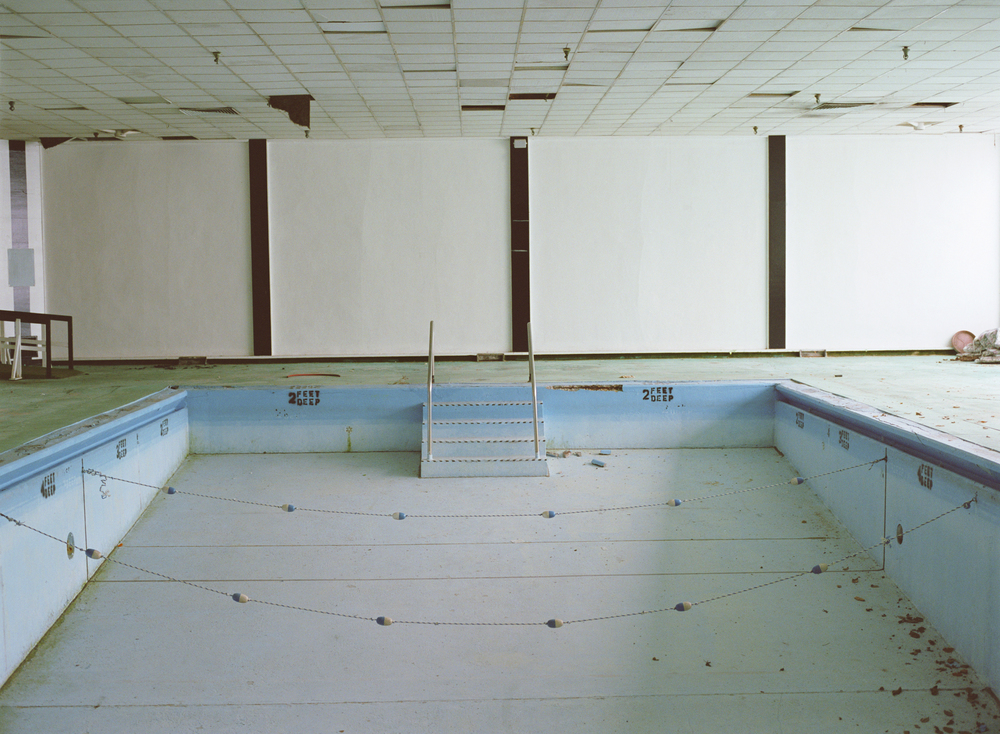 Indoor Pool, Homowack Lodge, Spring Glen, NY, Chromogenic Print