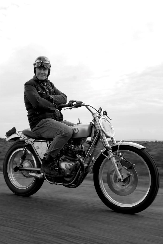 Nick Ashley on his motor bike
