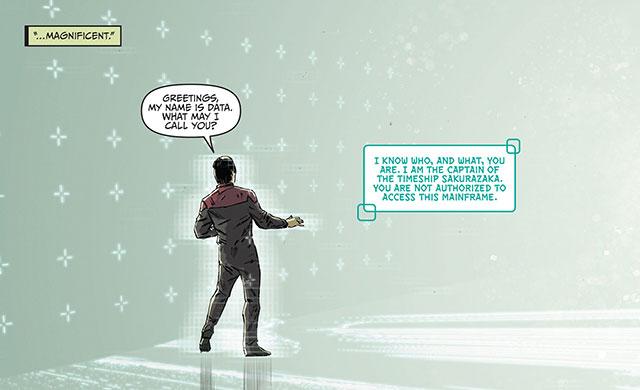 Data meets the AI Captain of the Sakurazaka