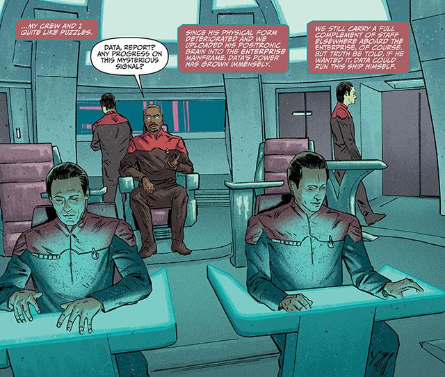 Capt Geordi & his ship full of Datas