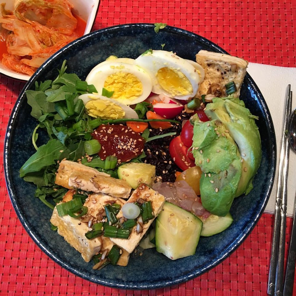 Roger's Black Rice Bibimbap w/ Season Veggies
