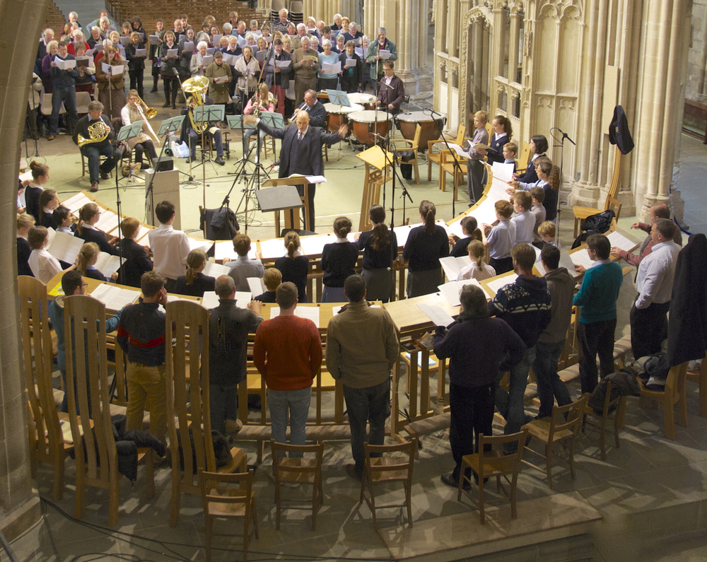 Recording Bob Chilcott's St John Passion for Signum Records in the Cathedral Nave