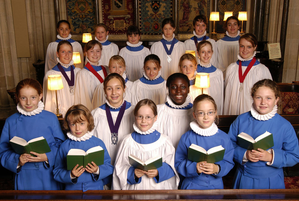 The girl choristers in March 2007