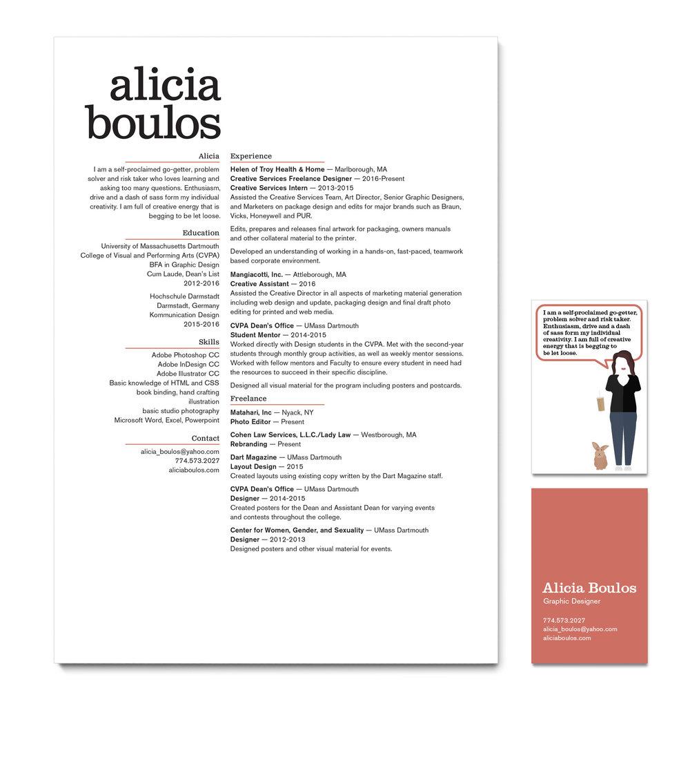 Resumé — Alicia Boulos