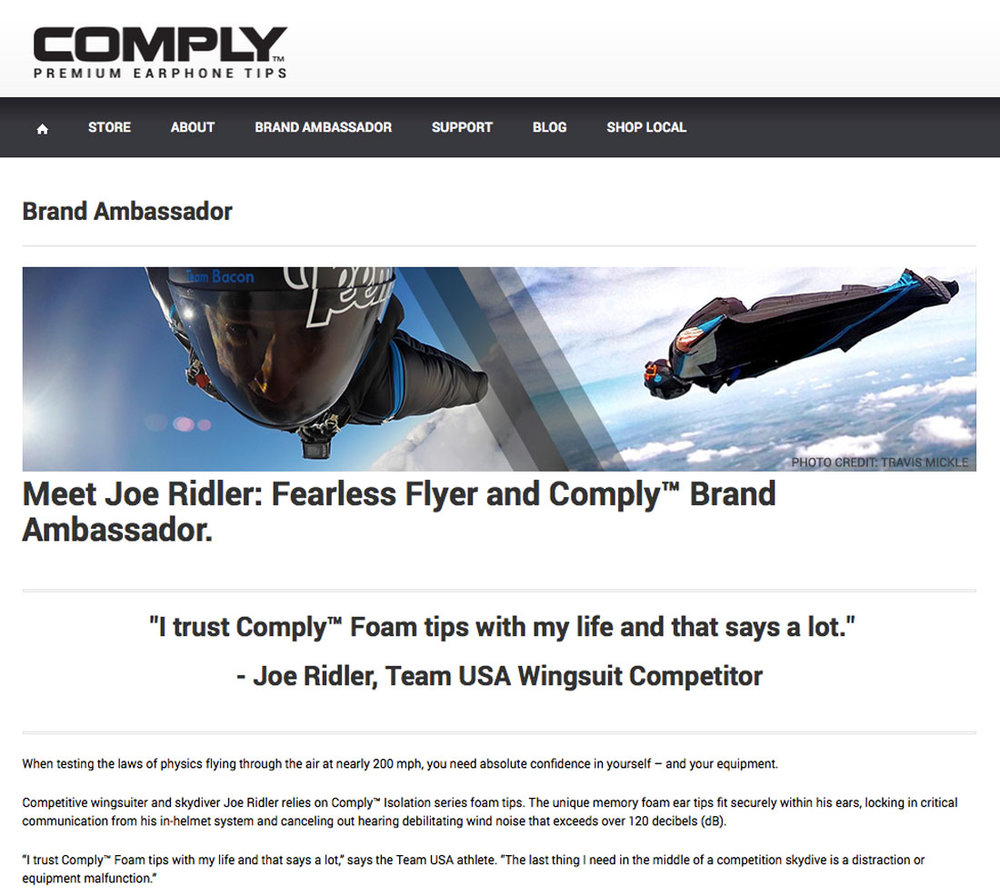 Comply Website - Brand Ambassador