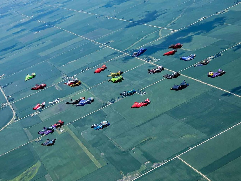 Wingsuit Formation Record 28-Way - USPA Illinois State Record