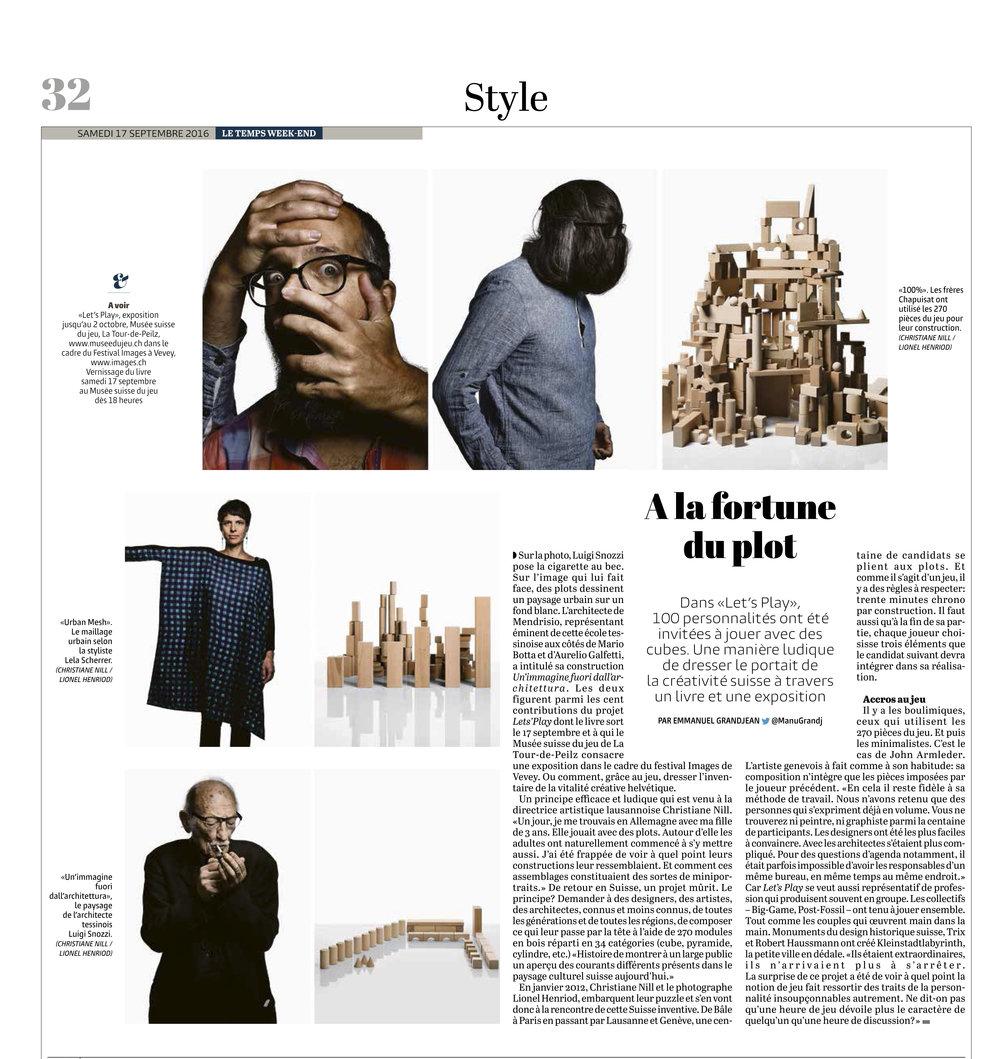 Le Temps, 17.9.2016