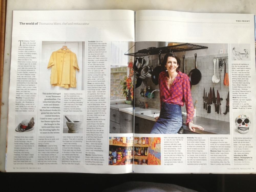 Portrait of Thomasina Miers in today's Telegraph Magazine