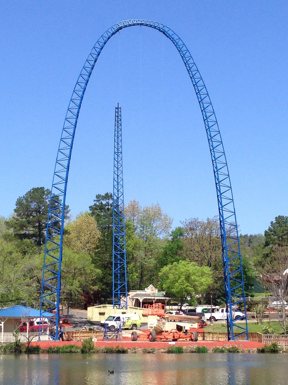 SkyCoaster – Hot Springs, Arkansas  Refurbished S kycoaster  ™      113'  single model.
