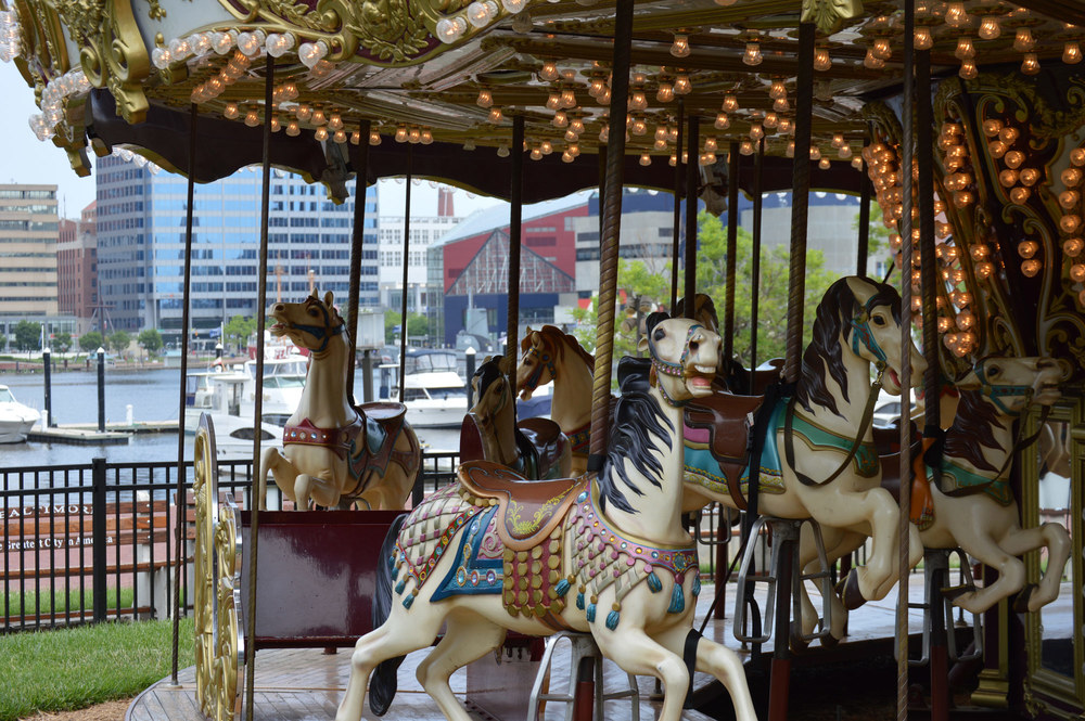 Charm City Carousel – Baltimore, Maryland  Certified and refurbished a Chance Rides park model carousel.