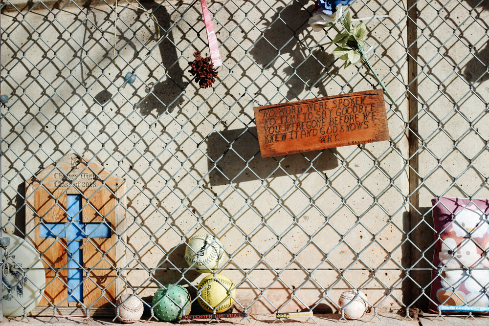 Mementos are placed on the fence at the Oklahoma City National Memorial to honor and remember those who died in the 1995 attack.