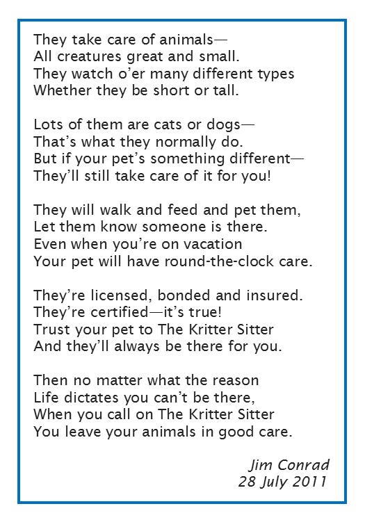 testimonials the delaware kritter sitter