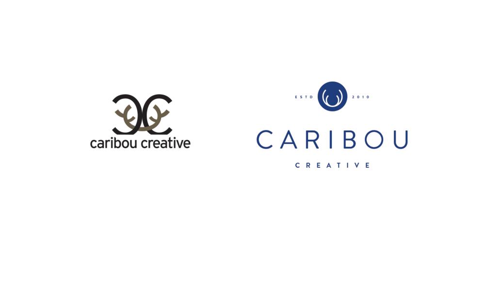 L: Caribou Creative logo 2010-2016 | R: Caribou Creative logo 2016