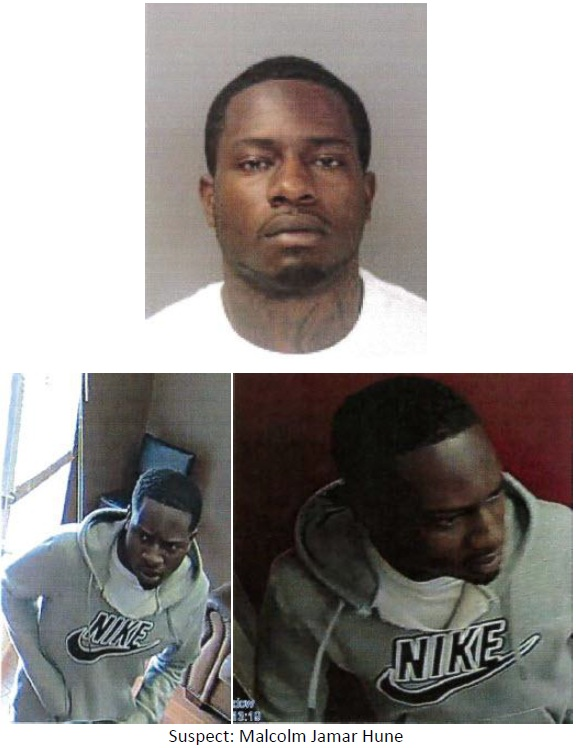 malcolm hune suspect dispensary robbery