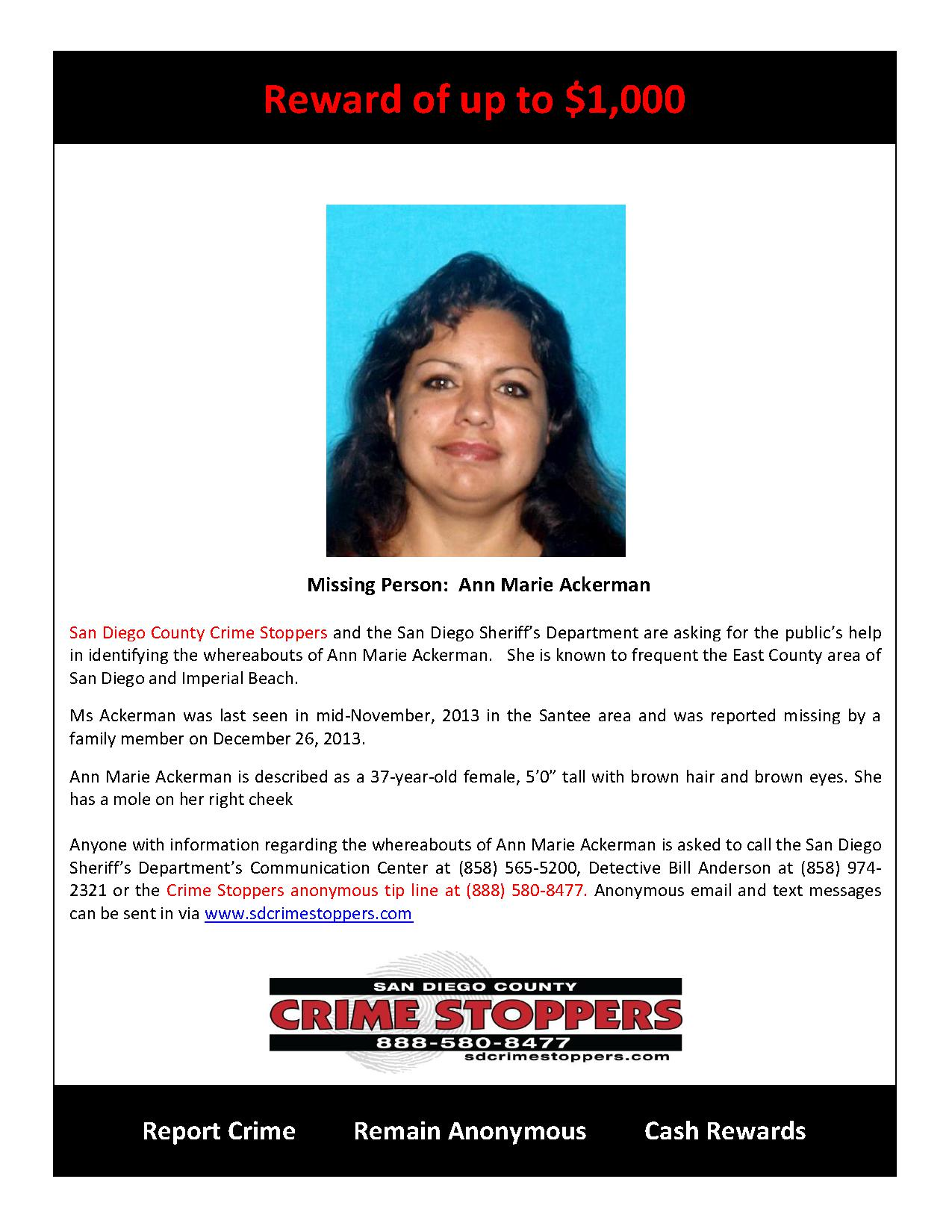 Missing Person Ann Marie Ackerman_1