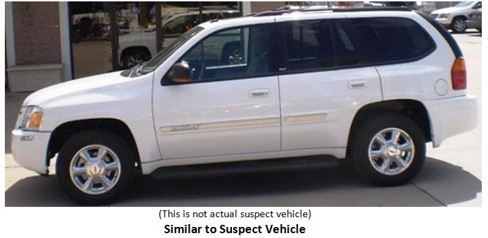 white envoy suspect vehicle