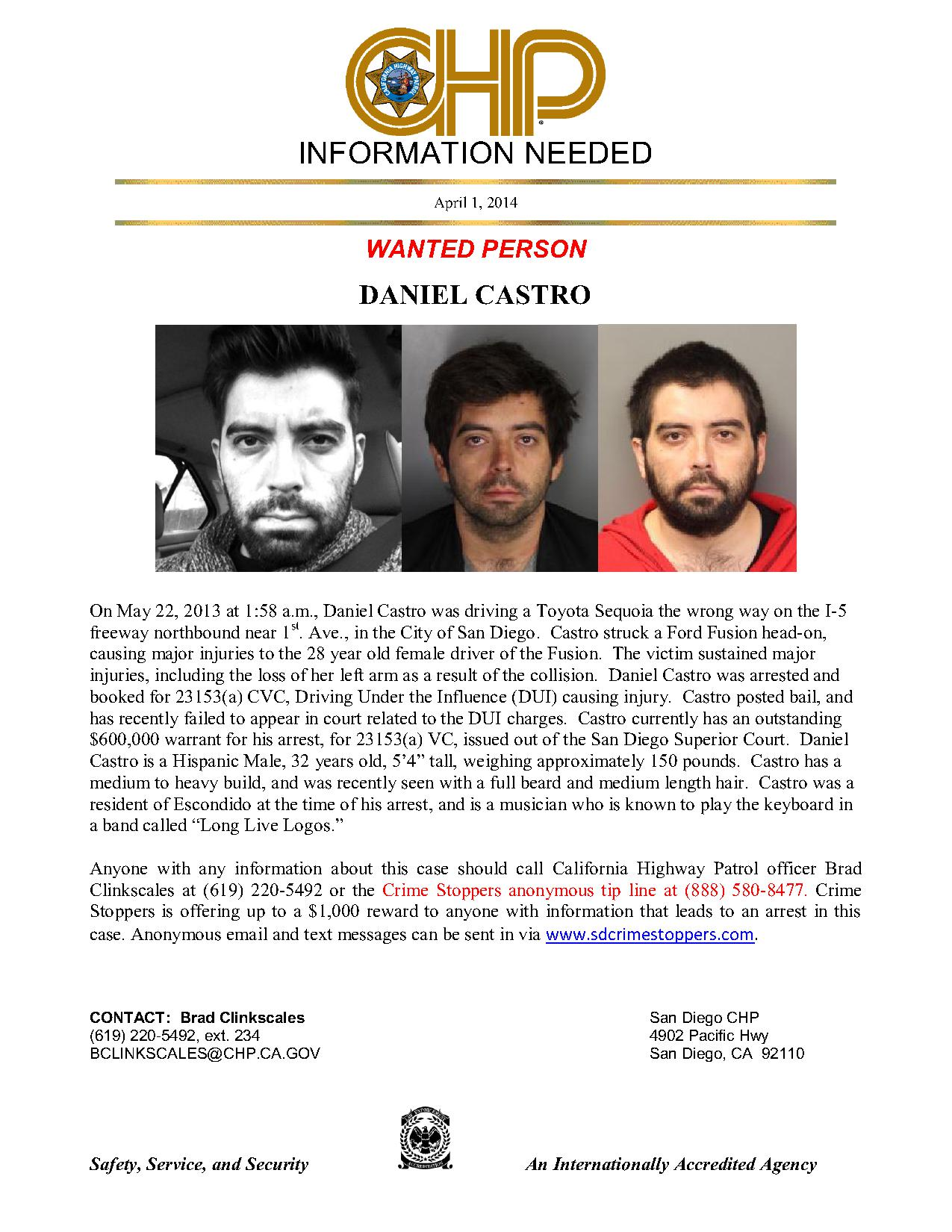 040114 CHP - Castro - Wanted Poster_1