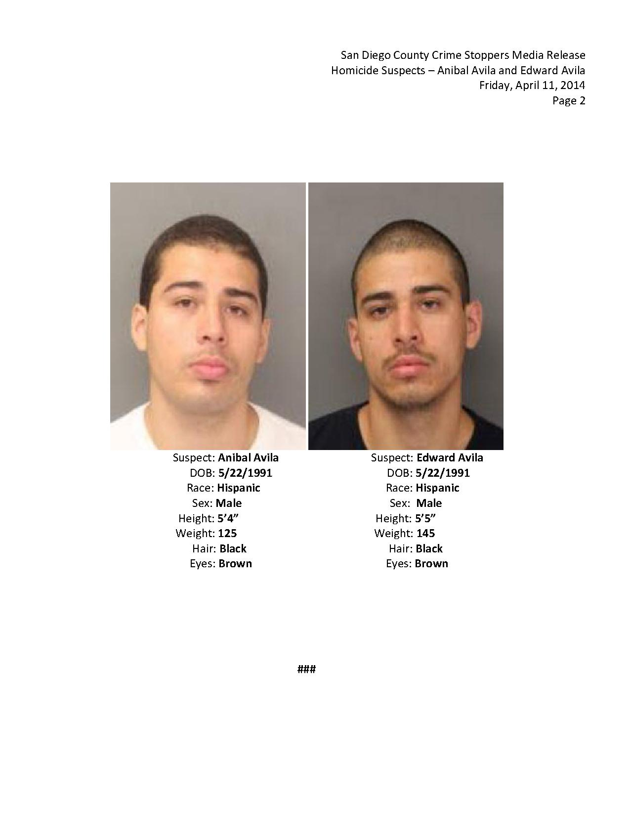 041114 Wanted For Homicide - Avila Brothers_2