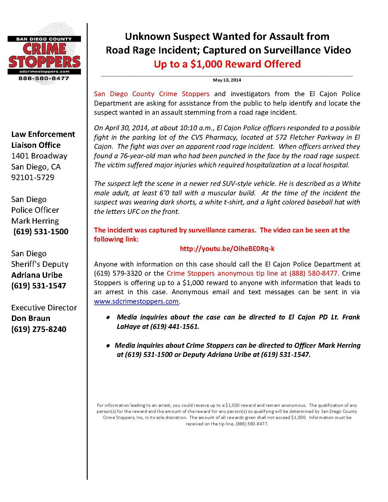 051314 El Cajon Road Rage Incident_1