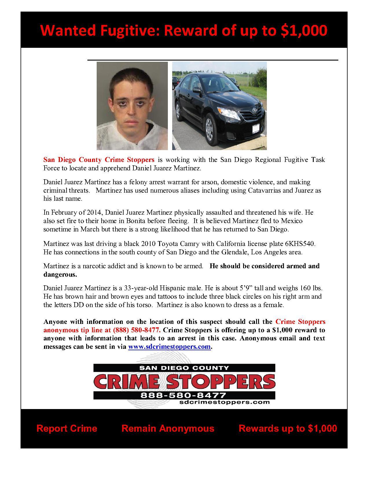 052814 Fugitive Daniel Juarez Martinez_1