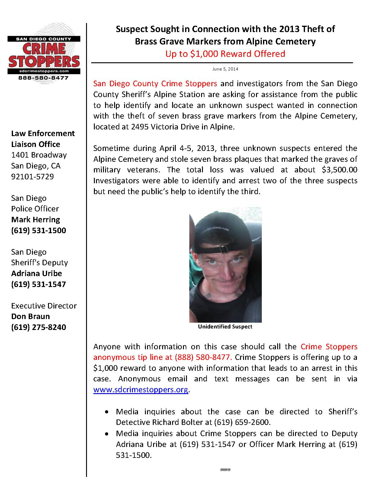 060514 Brass Marker Thefts_1