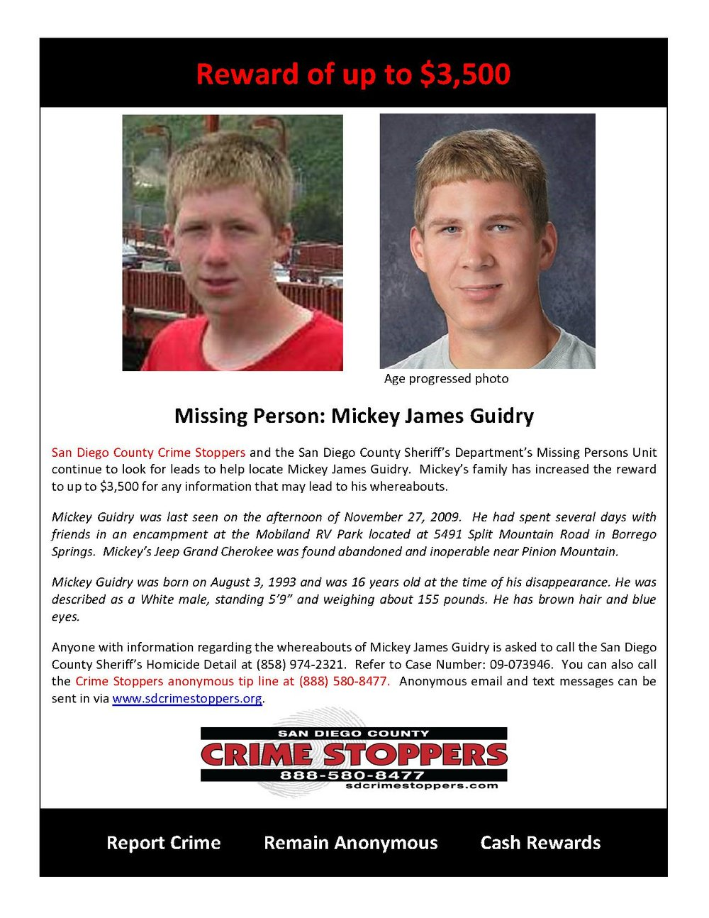 Missing Person Mickey Guidry_1