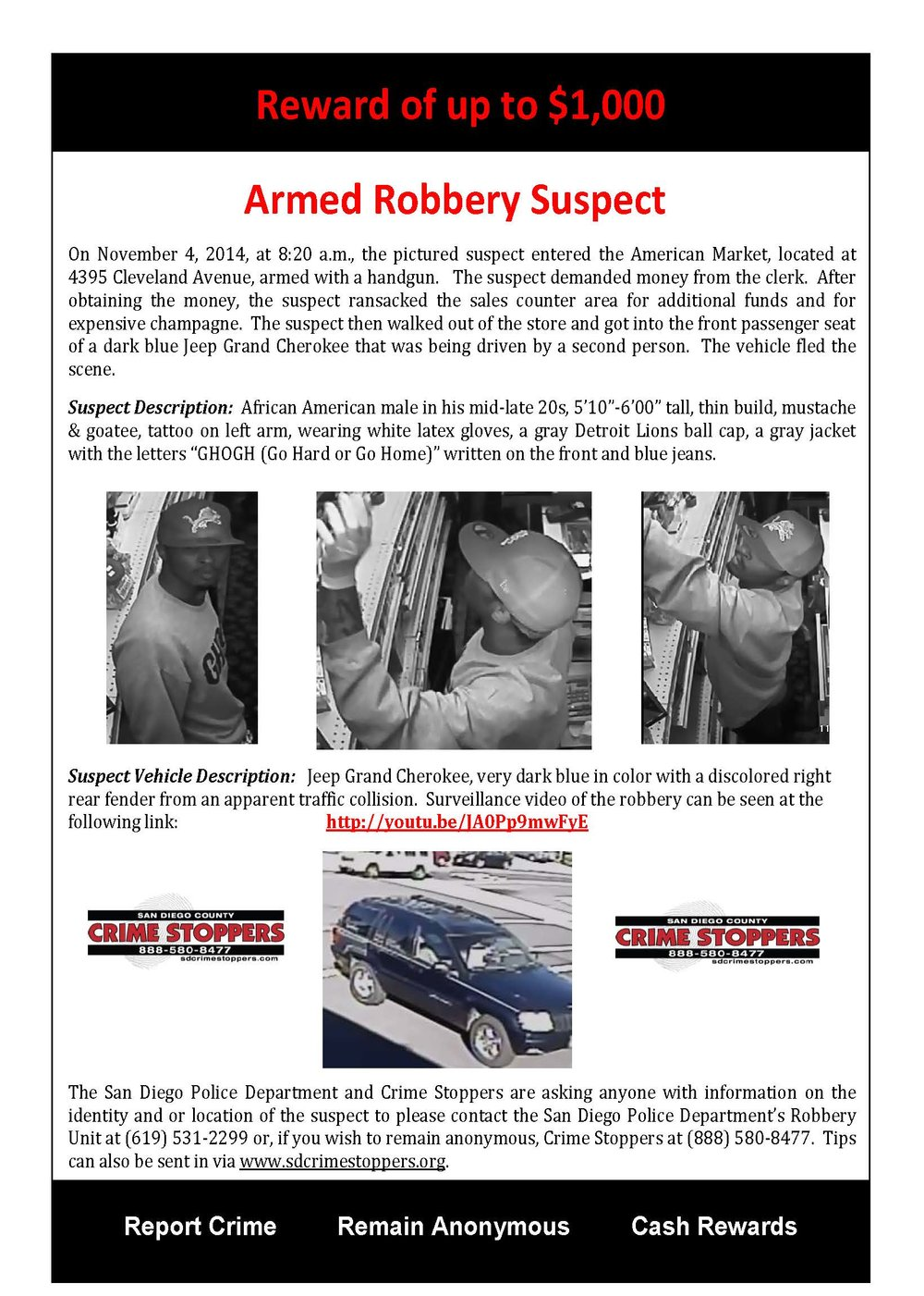 110714 American Market Armed Robbery