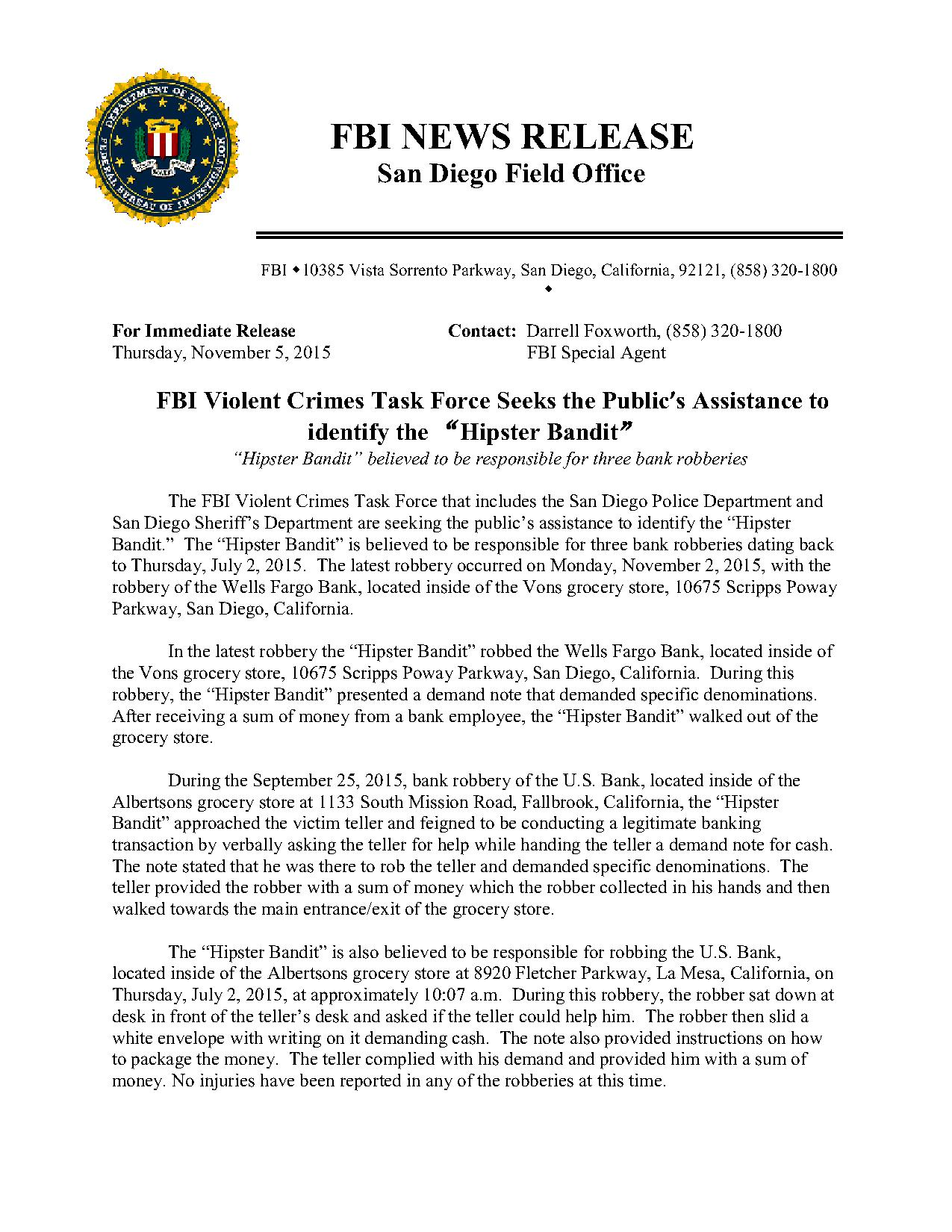 San Diego Blog — SD Crime Stoppers