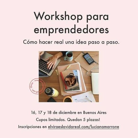 Mañana último workshop en Buenos Aires. No te quedes afuera! #workshop #emprendedores #elviraeslavidareal Entra a www.elviraeslavidareal.com/argentina 🎉🚀