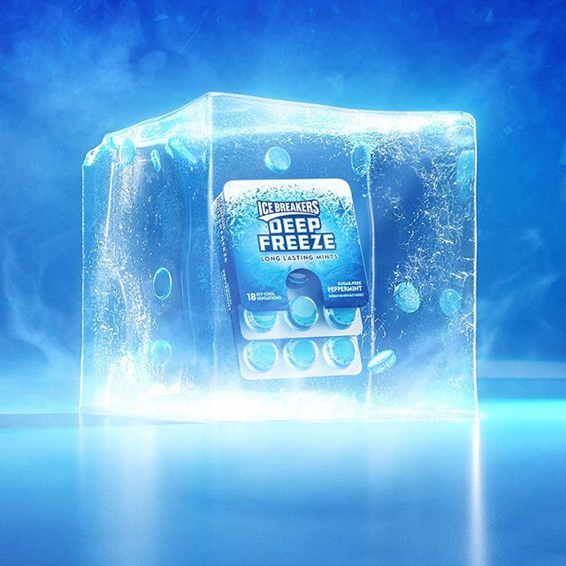 New CG work with @cpbgroup for Ice Breakers. . . . . . #digitalart #icebreakers #gum #delicious #ice #cold #mintyfresh #icecube #photoshop_art #cg #dailyrender #advertisement #adobe #cinema4d #visualart #adcampaign #art #render #3d