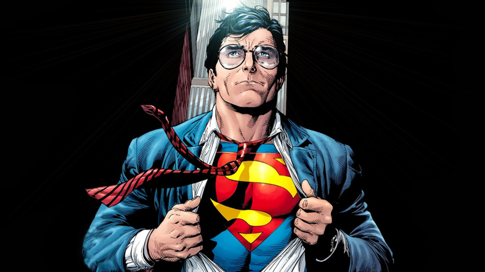 Clark Kent reveals the Superman underneath in  Superman: Secret Origin  #3. Art by Gary Frank.