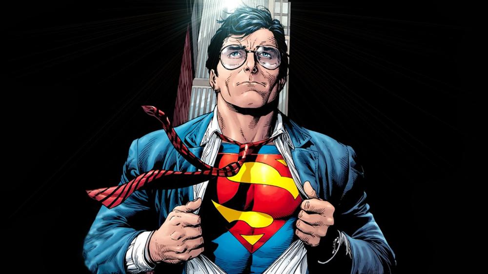 Clark Kent reveals the Superman underneath in Superman: Secret Origin#3. Art by Gary Frank.